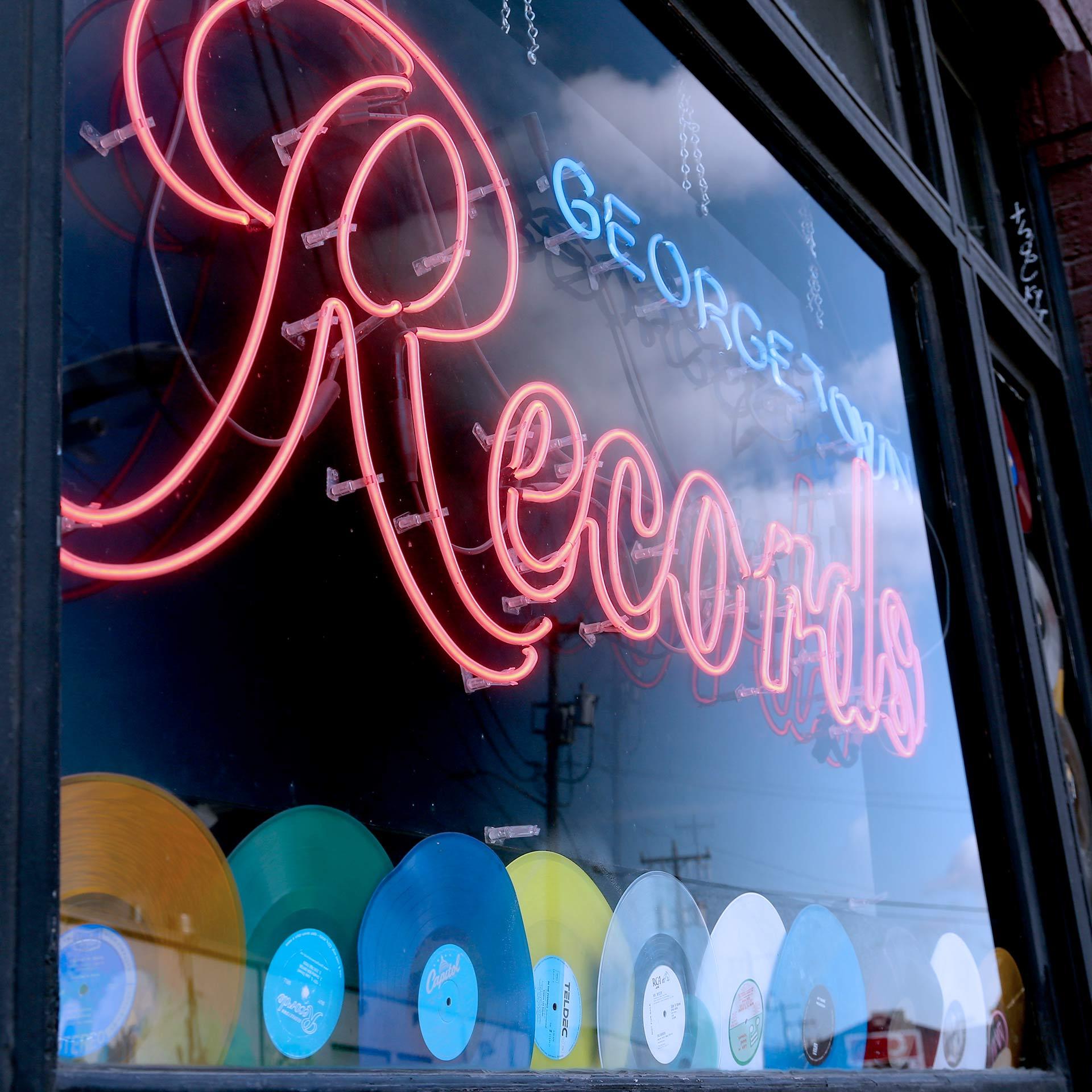 Georgetown Records window display