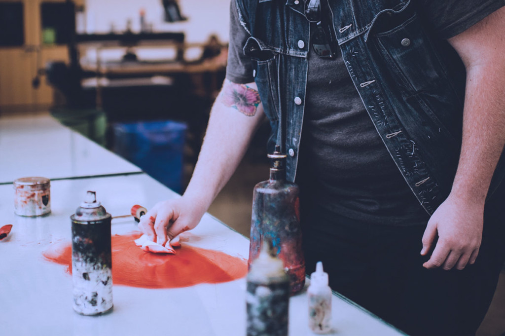 mixing ink colors in shop