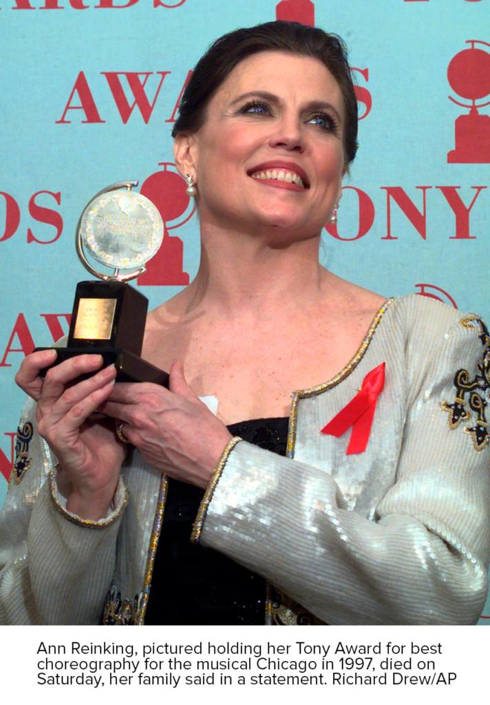 AP photo Ann Reinking holding award