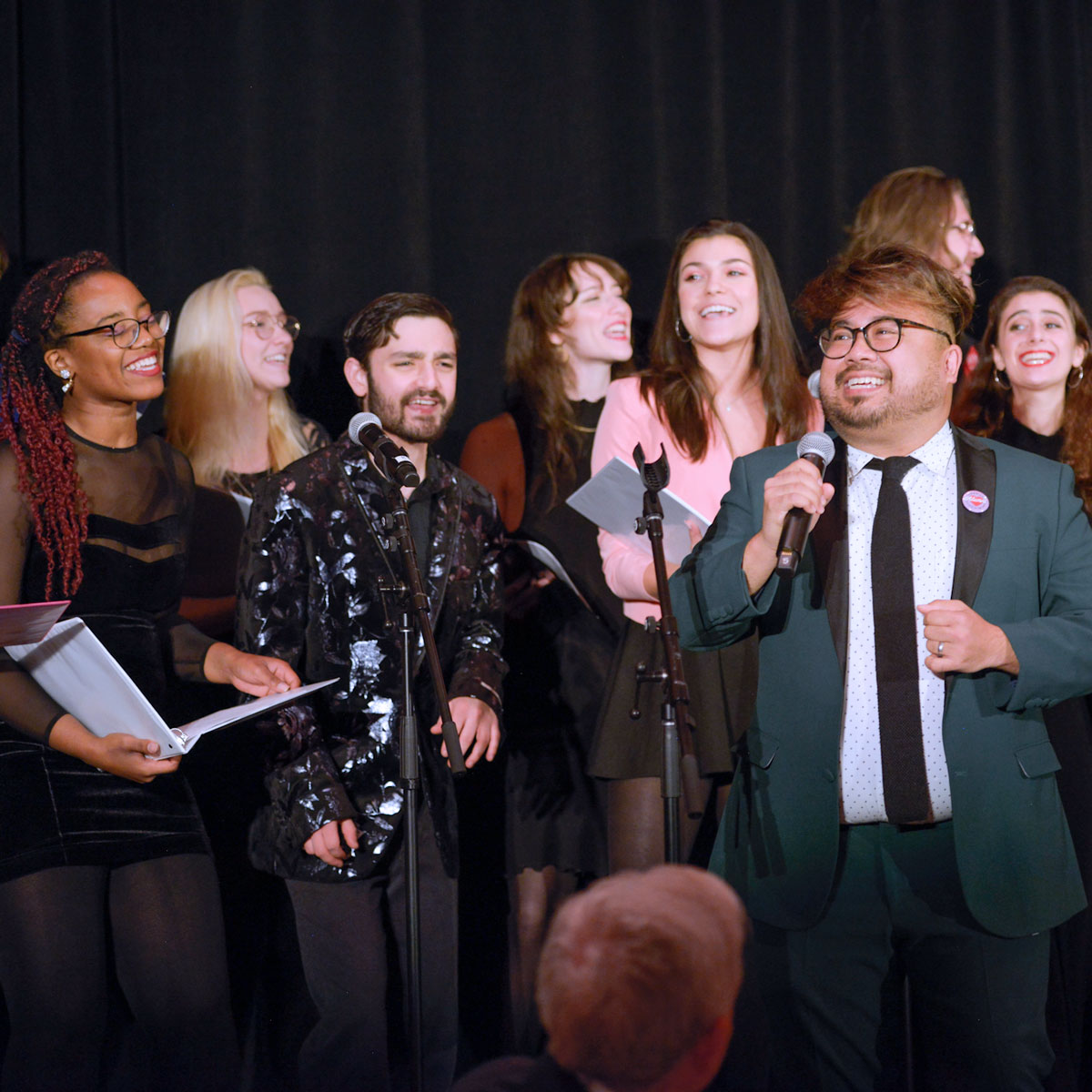 group singing performance
