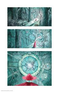 student work graphic novel panels
