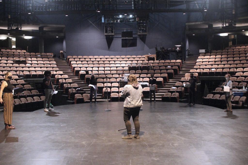 social distant rehearsal