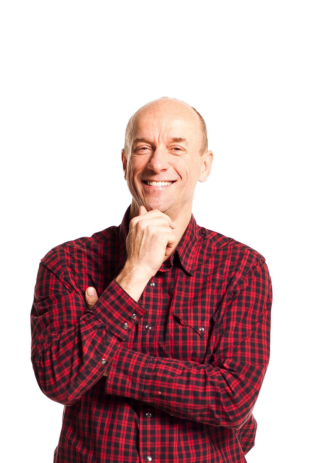 A portrait photo of a man.