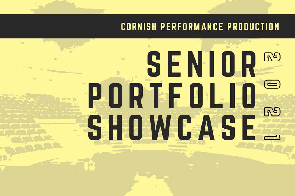 An event header for the senior portfolio showcase.