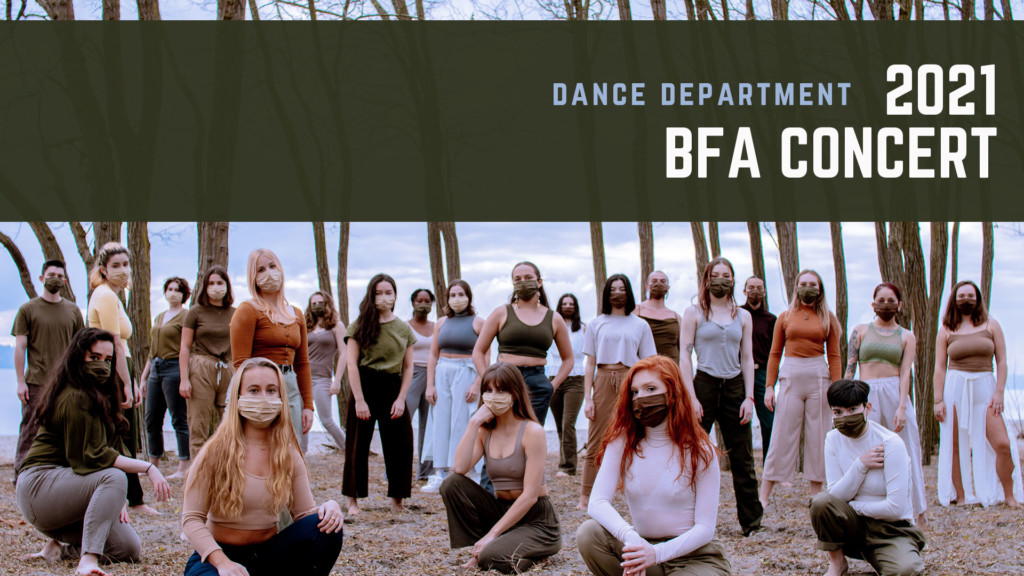An event header for a Dance BFA Concert.