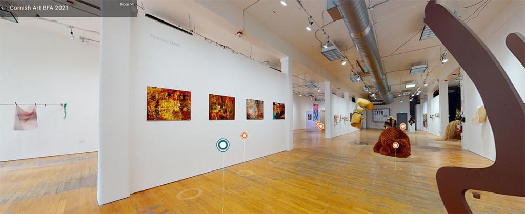 An art gallery exhibit.