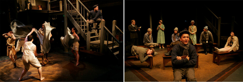 Two images of a play.