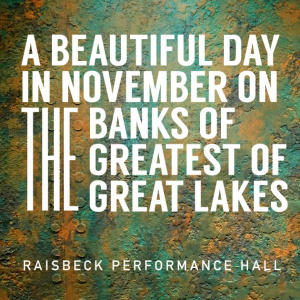 A Beautiful Day in November on the Banks of the Greatest of the Great Lakes (2019) | Full Performance